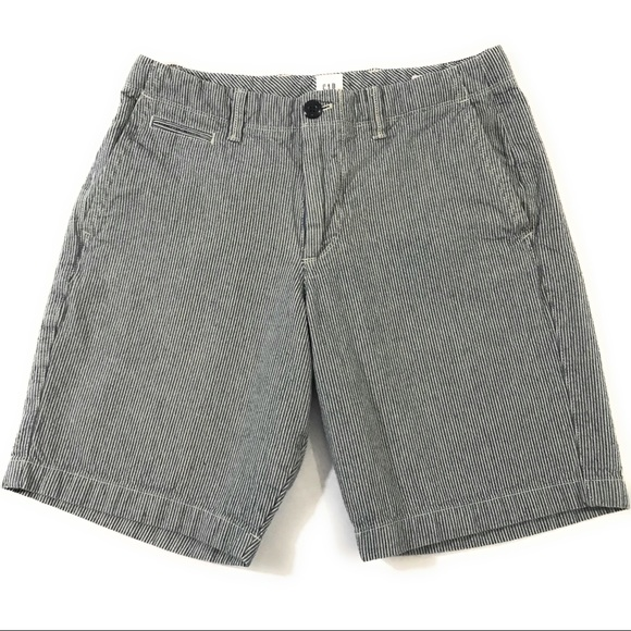 5d5cbbeb63 GAP Pants - GAP Women's Seersucker Bermuda Shorts, Size 29